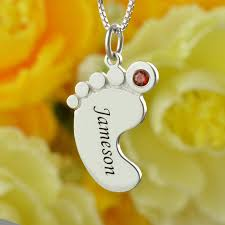 mothers necklace with kids birthstones birthstone necklace baby necklace engraved kids name