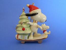 lenox snoopy s dashing ornament snoopy woodstock on