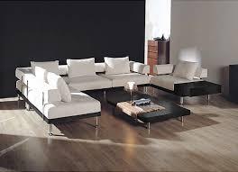 White Contemporary Sofa by Leather Sofa Modern U2013 Furniture Catnapper Modern Leather Sofa