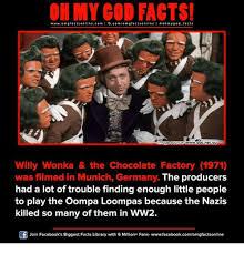 Willy Wonka And The Chocolate Factory Meme - my god facts wwwomg facts onlinecom i fbcomom g facts wwwabcnetau