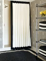 White And Black Shower Curtains Black White Shower Curtains Houzz