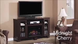 la salle fireplace midnight cherry electric fireplace youtube