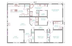 one floor 4 bedroom house blueprints home design ideas