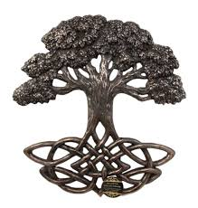 collectibles celtic tree of with symbollic knotwork root wall