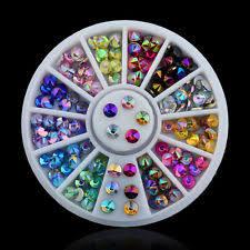 multi rhinestones nail art supplies ebay