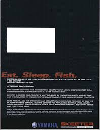 2000 skeeter fishing boats brochure