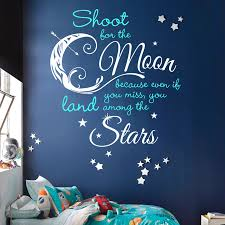 shoot for moon land among quote decal 2 color decals