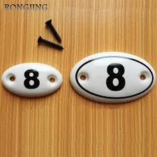 9pcs number ceramic kitchen cabinet drawer knobs porcelain kids