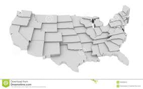 United States Map States by United States Map By States Image Logo High Levels Stock Vector