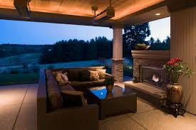 Covered Patio Lighting Ideas Covered Patio Contemporary Patio Portland By Kaufman Homes
