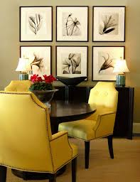 lovely ideas yellow upholstered dining chair dining room