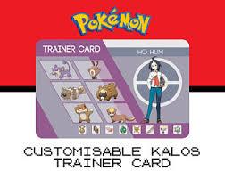 Pokemon Trainer Card Designer Custom Pokémon Trainer Card Sinnoh Design