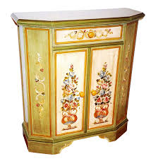 traditional trentino style hand painted wooden cupboard cabinets