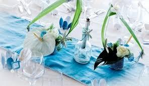mariage bleu et blanc décoration mariage réunion bleu turquoise et blanc organisation
