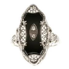 french art deco onyx and diamond ring at 1stdibs