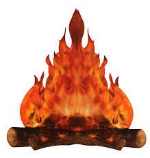 amazon com 3 d large decorative cardboard campfire centerpiece