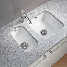 Both Sides Of Kitchen Sink Clogged by White Ceramic Undermount Kitchen Sinks U2022 Kitchen Sink