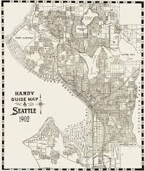 Map Of Seattle Handy Guide Map Of Seattle C1902