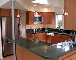 Kitchen Cabinets Restaining Brown Lacquer Pine Wood Kitchen Cabinet Using Black Marble Top