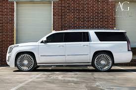 white cadillac escalade ag luxury wheels cadillac escalade forged wheels