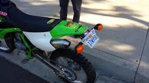 are motocross bikes street legal sold 2002 kx 100 california plated street legal enduro youtube