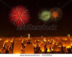 lanterns fireworks sky lantern stock images royalty free images vectors
