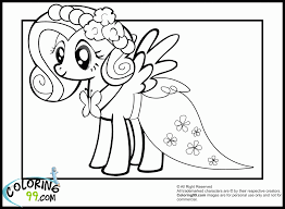 fluttershy coloring pages coloring home