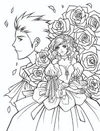 manga coloring pages for adults coloringstar