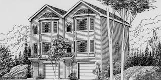 house plans 2 triplex house plans d 468 mixed use house plan condo plans