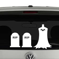 batman of the family stick figure family vinyl decal sticker