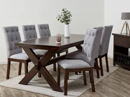 Grey Dining Table Chairs Fantastic Hardwood Dining Sets On Sale Now 50 Rrp B2c
