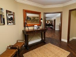 stained trim painted door bedroom transitional with