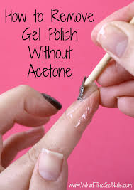 to remove gel polish without acetone