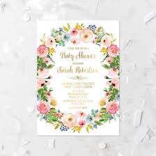 spring floral baby shower invitation printable baby sprinkle