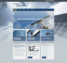 website template windows cleaning custom design services clear