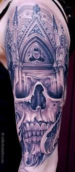 skull half sleeve by johan finne tattoonow
