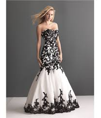 black lace wedding dresses 2013 bridal white organza black lace wedding gown
