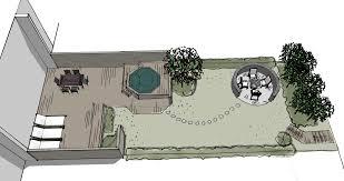 Small Row House Design A Narrow Scandinavian Row House Garden Designed With Sketchup