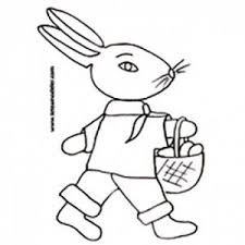 coloriage de paques lapin oeuf panier