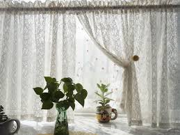 European Lace Curtains W150xh75cm European Style Pastoral Thicken Lace Window Screenings