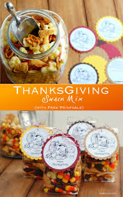 thanksgving snack mix free printable