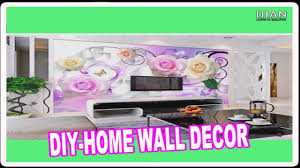 Home Wall Decor by Diy Home Wall Decor Ideas Stunning Living Room Wall Stickers Youtube