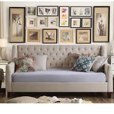 daybed images mistana pennington twin size tufted daybed reviews wayfair