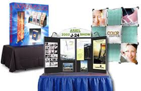 table top banners for trade shows trade show displays exhibits booths including furniture and banners