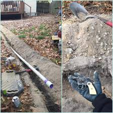 when your extending a sump pump line and your exact path finds