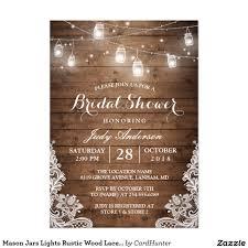 bridal shower mason jars lace u0026 lights rustic country chic barn