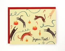 joyeux noel christmas cards joyeux noel card etsy