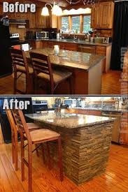 Kitchen Island Makeover Ideas Like The Wall Oven And Stovetop Config Also Like The Oak Cabinets