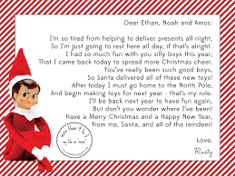 elf on the shelf arrival letter template u2014 new decoration funny