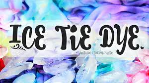 diy ice tie dye how to tie dye with ice youtube
